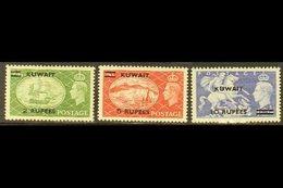 1951 2r On 2s.6d To 10r On 10s, SG 90/92, Never Hinged Mint. (3 Stamps) For More Images, Please Visit Http://www.sandafa - Kuwait