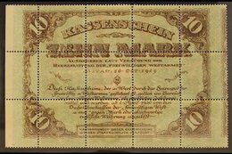 1920 COMPLETE BANKNOTE 20k+30k Red & Brown Red Cross Printed On Back Of Green & Brown Western Army Note (Michel 51z, SG  - Lettonie