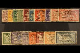 1924-5 Complete Set Surcharged With 4 Line Bi-lingual Overprint, SG 26/42, Fine To Very Fine Used. (17 Stamps) For More  - Lebanon