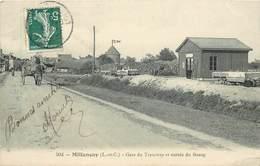 MILLANCAY - Gare Du Tramway Et Entrée Du Bourg. - Sonstige Gemeinden