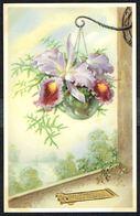 Fleurs - Orchidées Dans Un Vase Suspendu -  Circulé Sous Enveloppe - Circulated Under Cover - Gelaufen U. Umschlag  1952 - Flowers, Plants & Trees