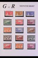 1937-51 FINE MINT COLLECTION Includes 1938-48 Definitives Complete To 10s Plus Additional 1½d, 2d, 3d, And 6d Perfs, 194 - Montserrat