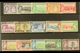 1953-62 Pictorial Definitive Set, SG 136a/49, Never Hinged Mint (15 Stamps) For More Images, Please Visit Http://www.san - Montserrat