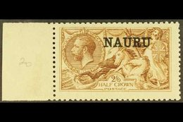 1916-22 2s6d Yellow-brown Seahorse, De La Rue Printing, SG 20, Never Hinged Mint. For More Images, Please Visit Http://w - Nauru