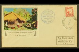 """1938 Illustrated """"PITC"""" Radio Cover To USA, Bearing 1d Kiwi Of New Zealand Tied By """"PITCAIRN ISLAND"""" Cds Cancel Of 18 MR - Pitcairn Islands"""
