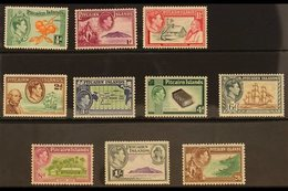 1940-51 KGVI Pictorial Set, SG 1/8, Never Hinged Mint. (10 Stamps) For More Images, Please Visit Http://www.sandafayre.c - Pitcairn Islands
