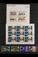 1980-1999 NEVER HINGED MINT COLLECTION A Beautiful All Different Collection Which Includes 1984 Fish Defin Set, 1988 Shi - Pitcairn Islands