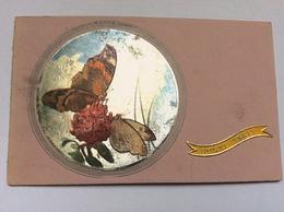 CPA Aspect Métallisé Deux Papillons Butinant Sur Une Fleur Ref 407 - Other