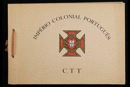 1947 UPU CONGRESS PRESENTATION FOLDER. Aspecial Printed 'Imperio Colonial Portugues C.T.T.' Presentation Folder Distrib - Colonies & Territories – Unclassified
