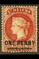 1880 1d Lake (Type B), Perf 14, SG 27, Fine Mint For More Images, Please Visit Http://www.sandafayre.com/itemdetails.asp - Saint Helena Island
