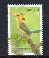 AUSTRALIA, 2010 $3 KINGFISHER F.USED - 2010-... Elizabeth II