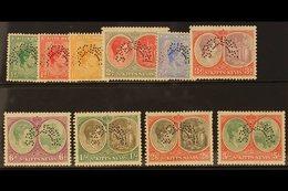 """1938-50 KGVI Set, Perf. """"SPECIMEN"""", SG 68/77s, Fine Mint. (10) For More Images, Please Visit Http://www.sandafayre.com/i - St.Kitts And Nevis ( 1983-...)"""
