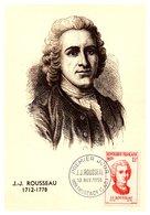 Thème Personnages Célèbres - Jean Jacques Rousseau - France Carte Maximum - TB - Célébrités