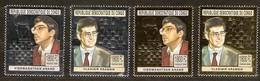 Congo 2004 OBCn° 2203B-2206B *** MNH Cote 80,00 Euro Argent Et Or Chess échecs Schaken Anand En Kramnik - Echecs