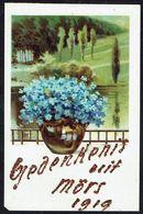 Fleurs - Fleurs Dans Un Vase Et Paysage -  Circulé Sous Enveloppe - Circulated Under Cover - Gelaufen Unter Umschlag. - Flowers, Plants & Trees