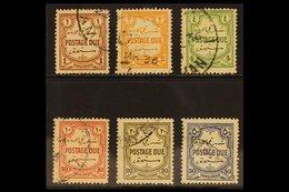 POSTAGE DUE 1929-39. Script Wmk Complete Set, SG D189/94, Fine Used (6 Stamps) For More Images, Please Visit Http://www. - Jordan