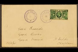 1935 RARE SILVER JUBILEE COVER In 1935 Several Copies Of The ½d And 1d George V Silver Jubilee Stamps Were Overprinted A - Tristan Da Cunha