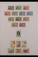 1952-1969 COMPREHENSIVE SUPERB MINT COLLECTION On Leaves, All Different, Complete To 1966, Includes 1952 Overprints Set, - Tristan Da Cunha