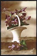 Fleurs - Fleurs Dans Un Vase -  Circulé Sous Enveloppe - Circulated Under Cover - Gelaufen Unter Umschlag. - Flowers, Plants & Trees