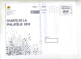 Pap Phil@poste  Charte 2018 Flamme Muette Datamatrix  Plié - Prêts-à-poster:  Autres (1995-...)