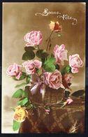"""Fleurs - Roses - """"Bonne Fête """" -  Circulé Sous Enveloppe - Circulated Under Cover - Gelaufen Unter Umschlag. - Flowers, Plants & Trees"""
