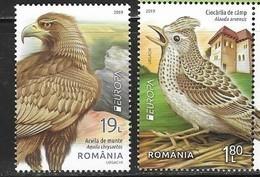 ROMANIA, 2019, MNH, EUROPA, BIRDS, EAGLES,  2v - 2019
