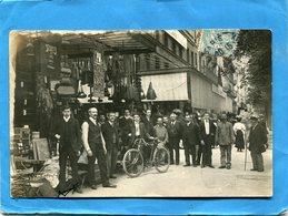 PARIS-XI-  Carte Photo-Grand Bazar -gros Plan  Animé Sur Le Boulevard--a Voyagé En 1905 - Other