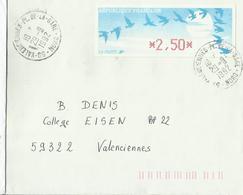 Vignette De Distributeur Sur Lettre 1992 - 1990 «Oiseaux De Jubert»