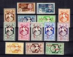 AEF France Libre Série Résistance Maury N° 175/188 Neufs *. B/TB. A Saisir! - Unused Stamps