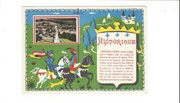 HISTORIQUE DE CHATILLON SUR MARNE STATUE URBAIN II    ***** RARE   A  SAISIR **** - Châtillon-sur-Marne