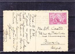 Lettonie - Carte Postale De 1939 - Oblit Rigai - Exp Vers Bruxelles - Avec Pli Accordeon - - Lettonie