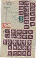 Lettonie - Lettre Recom De 1940 ° - Oblit Riga - Exp Vers Voru - Armoiries - Lettonie