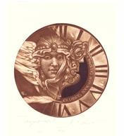 """Kerin Hristo     C3 C5  105x05 Col  18/50   """"Tempus Fugit"""" - Ex Libris"""