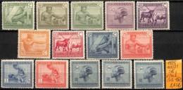 D - [835992]TB//*/Mh-c:15e-Congo Belge 1923 - N° 118/31, Série Complète */mh, Animaux, Métiers - Congo Belge