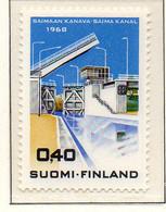 PIA - FINLANDIA - 1968 : Inaugurazione Del Canale Di Saima - Chiusa Di Mustola  - (Yv 617) - Neufs