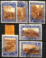 D - [836026]TB//O/Used-c:30e-Congo Belge 1938 - N° 203/08, Du Bloc 2 - Congo Belge