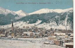 ***  SUISSE GR  ***  DAVOS PLATZ Mit Albertitobel U Gemsjager - Timbrée TTB 1910 - GR Grisons