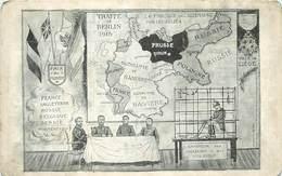 GUERRE 1914/18 -  Traité De Berlin 1915, Guillaume II L'empereur Des Assassins Et Des Voleurs,carte Satirique. - Oorlog 1914-18