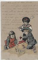 Thémes, FANTAISIES GAUFREES, Groupe D'Enfants Jouant, Animations Couleurs, Scan Recto-Verso - Fancy Cards