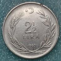 Turkey 2½ Lira, 1963 -1222 - Turkey