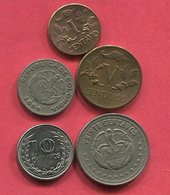 LOT 5 MONNAIES DIFFERENTES TB 3 - Colombia