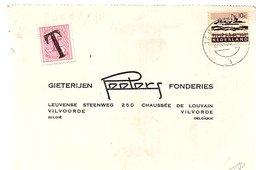 1965 Strafport Terneuzen > Gieterijen Volvorde Fonderies Peeters Leuvense Steenweg 250  (EV-35) - Cartas