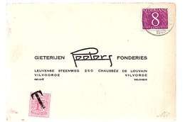 1965 Strafport Terneuzen > Gieterijen Volvorde Fonderies Peeters Leuvense Steenweg 250  (EV-36) - Cartas