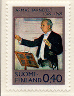 PIA -  FINLANDIA - 1969  :  Centenario Della Nascita Del Compositore Armas  Jamefelt  -  (Yv  628) - Musica