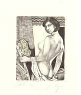 "Kerin Hristo     C3 C5 Col  118x88 Col     ""Nudo"" - Ex Libris"