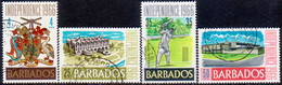 BARBADOS 1966 SG #356-59 Compl.set Used Independence - Barbades (1966-...)