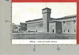 CARTOLINA NV ITALIA - MILANO - Cortile Del Castello Sforzesco - 9 X 14 - Milano
