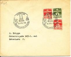 Denmark Cover Junior Exhibition Roskilde 29-4-1956 - Philatelic Exhibitions