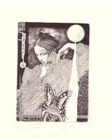 """Kerin Hristo  Opus30    C3 C5 Col  122x88      """"Bianca Luna"""" - Ex Libris"""