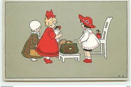 N°9464 - Carte Illustrateur - Fritz Baumgarten - Fillettes Avec Leurs Poupées - Meissner Série N°2535 - Baumgarten, F.